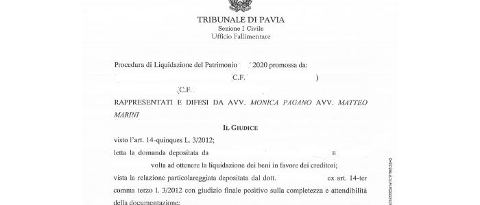 procedura legge 3 2012